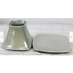 Yankee Candle Small Shade+Plate Silver Iridescent